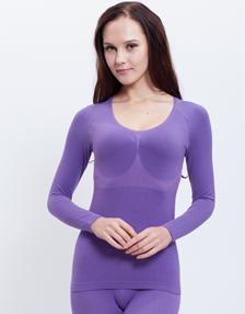 女士保暖内衣套装YM16-KM16紫色