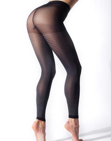 条纹美腿袜0681-7-10